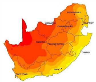 uv range of south africa